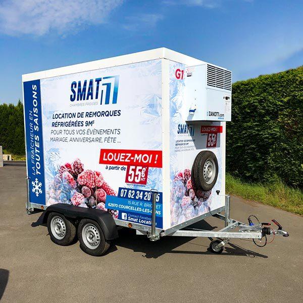 Remorque réfrigérée 9m3 SMAT location