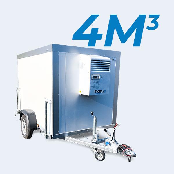 Remorque frigorifique 4m3 de face