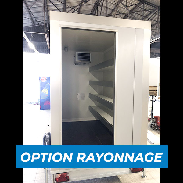 Remorque frigorifique 6m3 avec rayonnage