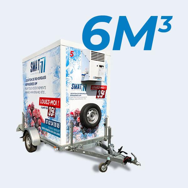 Remorque frigorifique 6m3
