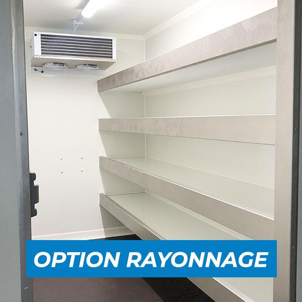 Remorque frigorifique 9m3 avec rayonnage