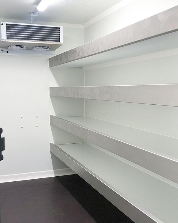 rayonnage d'une remorque frigorifique
