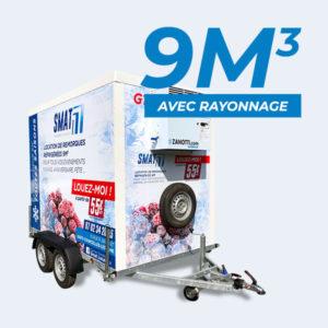 location remorque frigorifique 9m3 SMAT avec rayonnage à louer