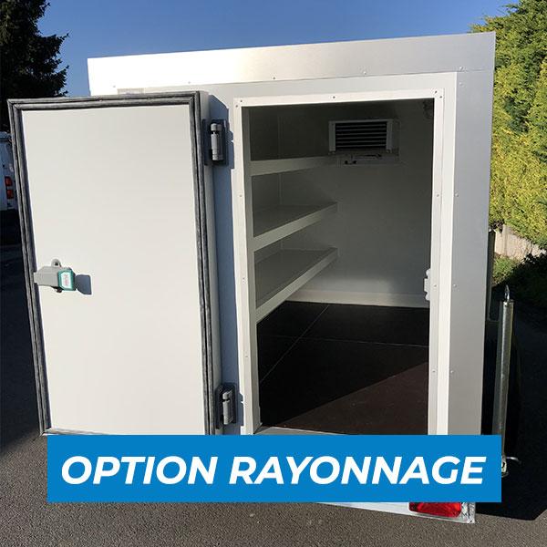 Remorque congélateur 4m3 option rayonnage à vendre